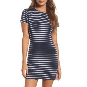 French Connection Nautical Navy Striped Mini Dress